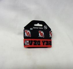NHL New Jersey Devils 2 Pack Bracelet Wrist Bands Set Rubber