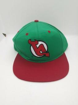NHL New Jersey Devils Adjustable Baseball Cap Hat Green Whit