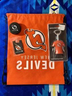 NHL New Jersey Devils Drawstring Bag, Bottle Opener, Card Ho