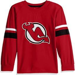 NHL New Jersey Devils NWT Long Sleeve Tee Shirt Arm Stripes