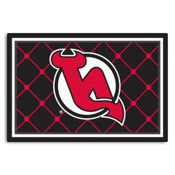 FANMATS NHL New Jersey Devils Nylon Face 5X8 Plush Rug