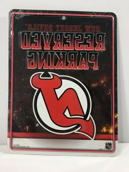 """NHL New Jersey Devils Official """"Reserved """"Parking"""" plaque"""