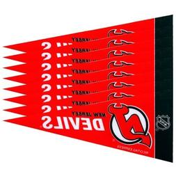 "NHL New Jersey Devils Red 8-Pack 4"" x 9"" Mini Pennant Set"