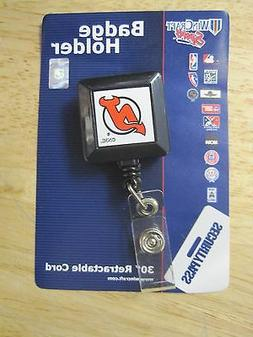 NHL New Jersey Devils Retractable ID Badge Holder