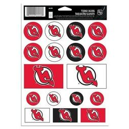 "NHL New Jersey Devils Vinyl Sticker Sheet, 8.5"" x 11"""