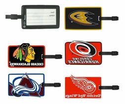 nhl soft rubber luggage and bag tag