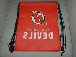 NJ Devils drawstring bags