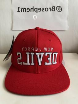 NJ New Jersey Devils Men's Snapback One Size Red Starter Hat