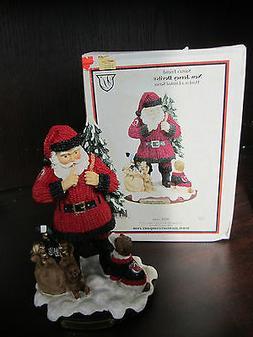 "NJ NEW JERSEY DEVILS  Santa's Friend Figurine 8"" NEW In BOX"